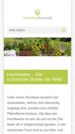 Vorschau der mobilen Webseite www.hochbeetfreunde.de, Hochbeetfreunde - alles rund um's Hochbeet