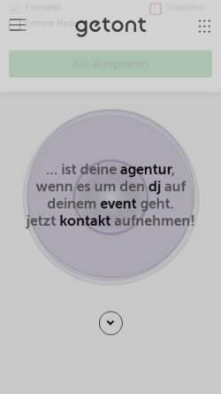 Vorschau der mobilen Webseite getont.de, getont Dj-Agentur Voerg & Duarte GbR