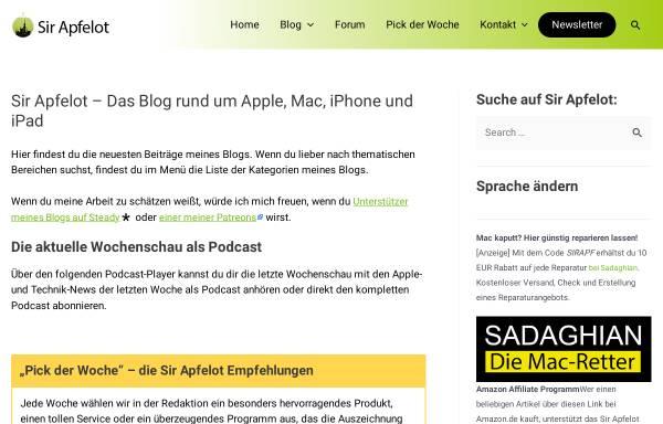 Vorschau von www.sir-apfelot.de, Sir Apfelot