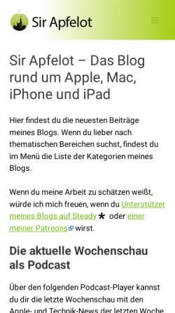 Vorschau der mobilen Webseite www.sir-apfelot.de, Sir Apfelot