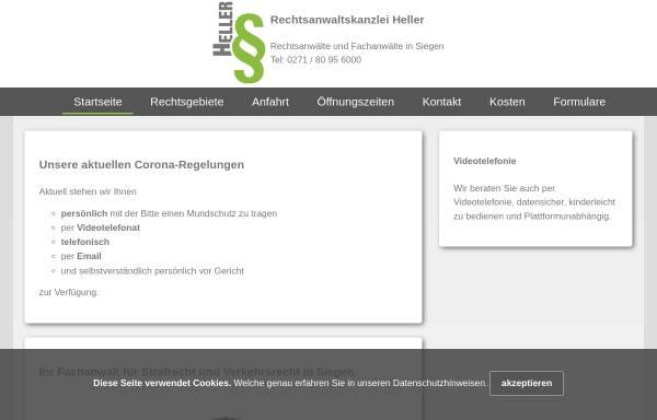 Vorschau von www.rechtsanwaltskanzlei-heller.de, Rechtsanwaltskanzlei Heller in Siegen