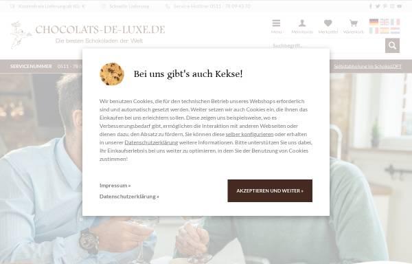 Vorschau von www.chocolats-de-luxe.de, Chocolats-de-luxe.de GmbH