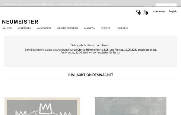 Vorschau von www.neumeister.com, Neumeister Münchener Kunstauktionshaus GmbH & Co. KG