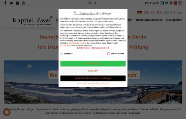 Vorschau von kapitel-zwei.de, Kapitel Zwei. Deutsch-Sprachschule Berlin GmbH
