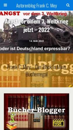 Vorschau der mobilen Webseite frank-c-mey.com, Mey, Frank C.