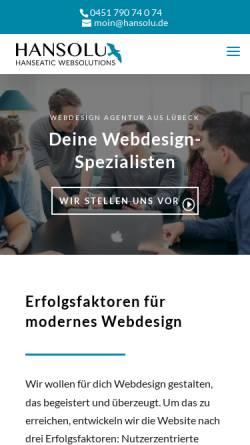 Vorschau der mobilen Webseite marketing-ohne-klugschnacken.de, Hansolu GmbH