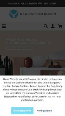 Vorschau der mobilen Webseite new-swedish-design.de, NSD New Swedish Design GmbH