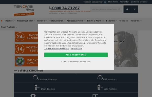 Vorschau von www.direct.de, Tenovis Direct GmbH