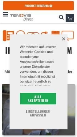 Vorschau der mobilen Webseite www.direct.de, Tenovis Direct GmbH