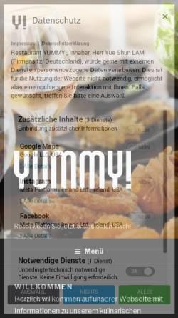 Vorschau der mobilen Webseite www.yummy-kiel.de, YUMMY!