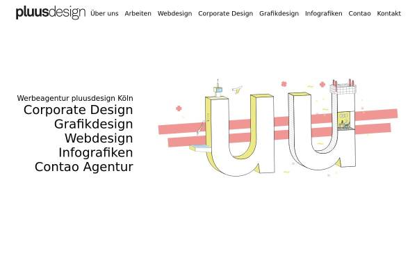 Vorschau von www.pluus-design.de, pluusdesign GmbH
