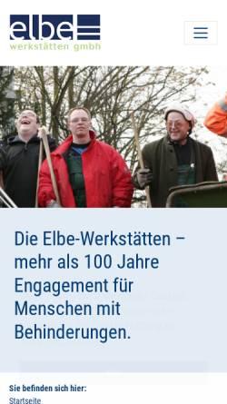Vorschau der mobilen Webseite www.elbe-werkstaetten.de, Elbe-Werkstätten GmbH