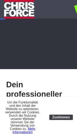 Vorschau der mobilen Webseite www.chris-force.de, DJ Chris Force
