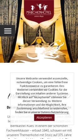 Vorschau der mobilen Webseite www.maerchenhotel.com, Märchenhotel