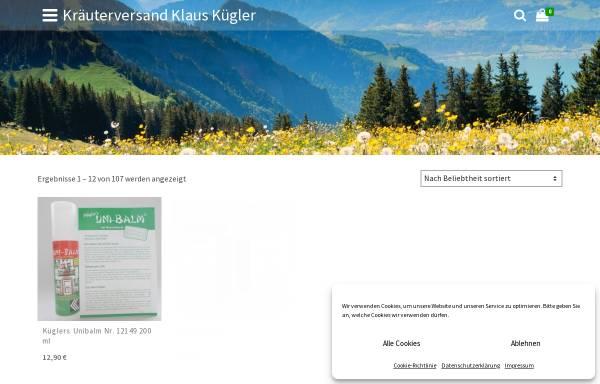 Vorschau von www.kraeuterversand-klaus-kuegler.de, Kräuterversand Klaus Kügler