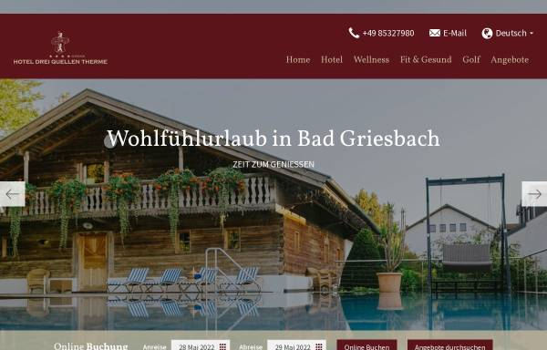Vorschau von www.hotel-dreiquellen.de, Hotel Drei Quellen Therme