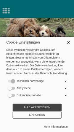 Vorschau der mobilen Webseite www.mahne-havaneser.de , Cillimar´s Havaneser