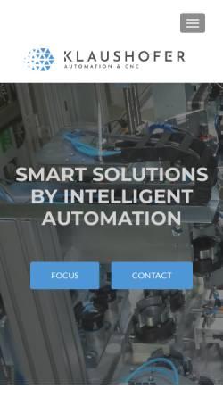 Vorschau der mobilen Webseite www.klaushofer.eu, Klaushofer Automatisierungstechnik