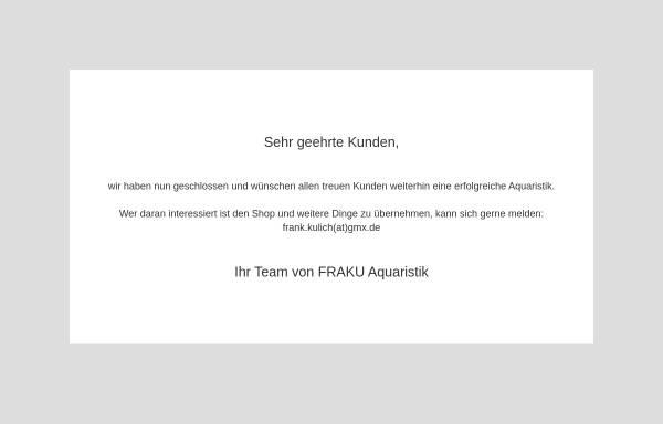 Vorschau von www.fraku-aquaristik.de, FRAKU Aquaristik, Frank Kulich