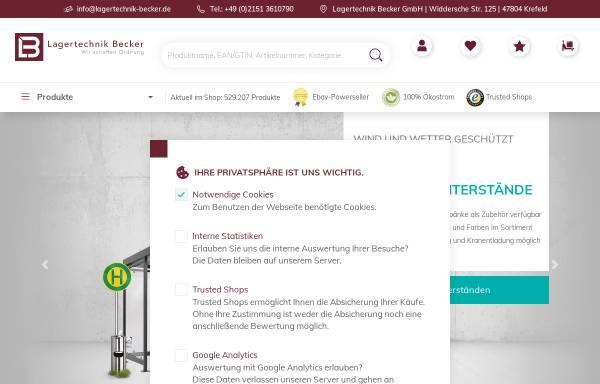 Vorschau von www.lagertechnik-becker-shop.de, Lagertechnik Becker GmbH