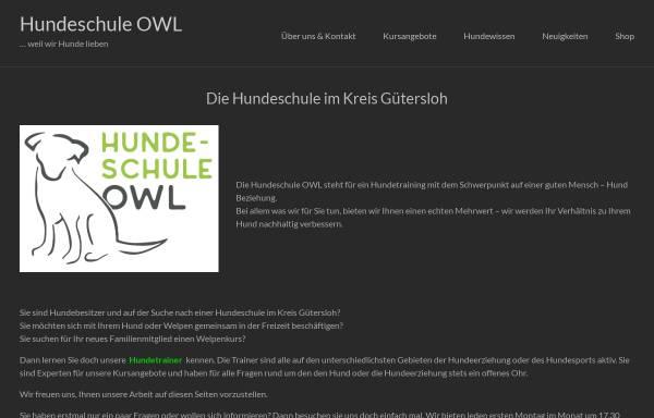 Vorschau von www.hundeschule-owl.de, Hundeschule OWL