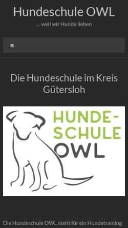 Vorschau der mobilen Webseite www.hundeschule-owl.de, Hundeschule OWL