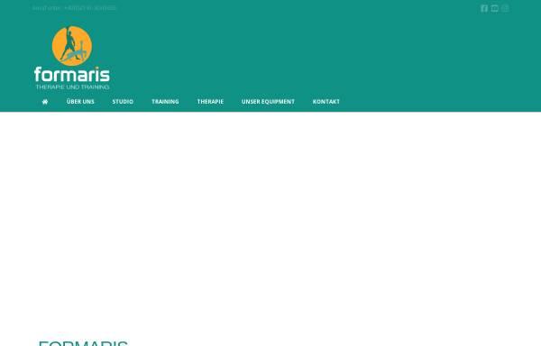 Vorschau von www.formaris.de, formaris - Personaltraining und Osteopathie aus einer Hand