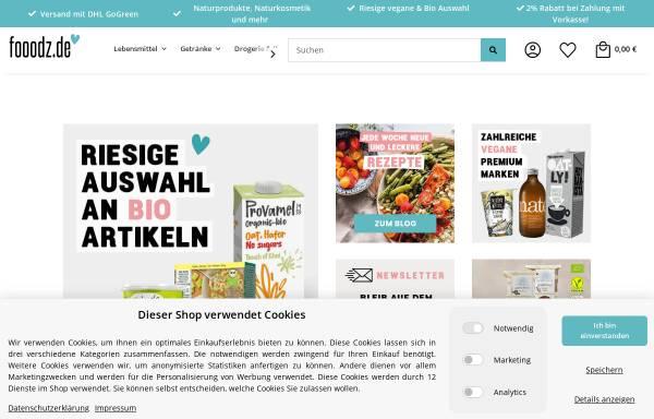 Vorschau von www.fooodz.de, Fooodz - Einfach vegan ernähren