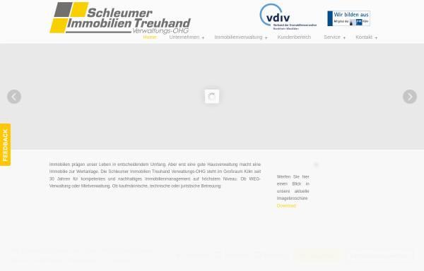 Vorschau von www.hausverwaltung-koeln.com, Schleumer Immobilien Treuhand Verwaltungs-OHG
