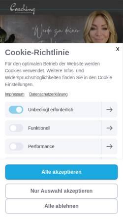 Vorschau der mobilen Webseite www.silvia-merschmann-coaching.de, Silvia Merschmann Coaching