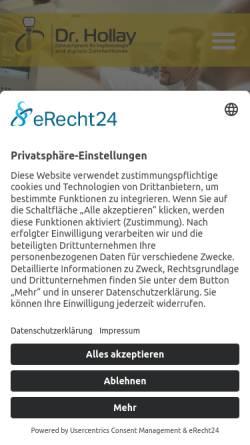 Vorschau der mobilen Webseite www.dr-hollay.de, Zahnarztpraxis Dres. Hollay