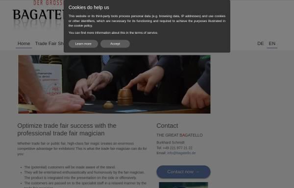 Vorschau von www.messe-zauberer.com, Event- und Messezauberer Burkhard Schmidt
