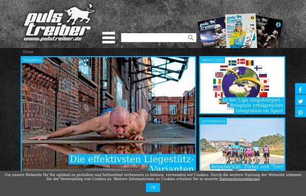 Vorschau von www.pulstreiber.de, Sportmagazin PULSTREIBER