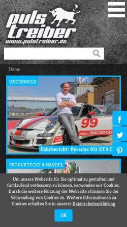 Vorschau der mobilen Webseite www.pulstreiber.de, Sportmagazin PULSTREIBER
