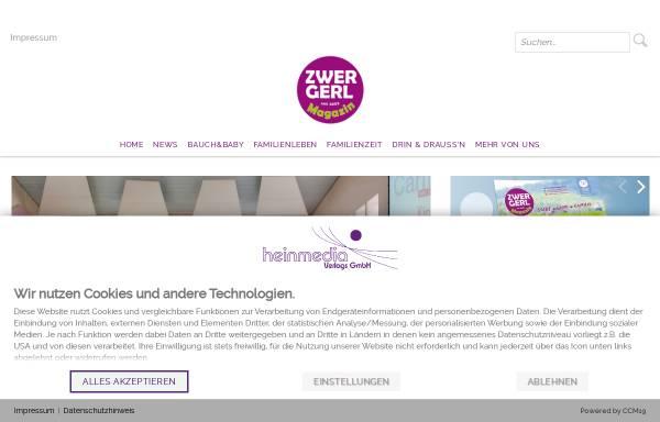 Vorschau von www.zwergerl-magazin.de, Zwergerl Magazin - das Familienmagazin in der Metropolregion München