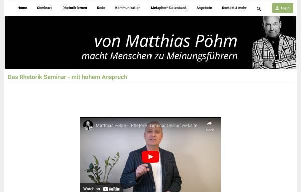 Vorschau von www.rhetorik-seminar-online.com, Rhetorik Seminar Online / Pöhm Seminarfactory