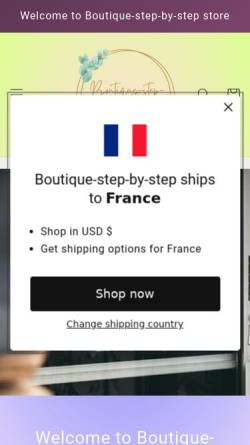 Vorschau der mobilen Webseite www.boutique-step-by-step.de, Boutique Step by Step