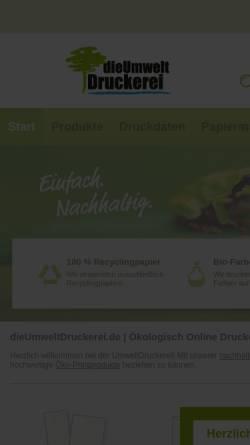 Vorschau der mobilen Webseite www.dieumweltdruckerei.de, dieUmweltDruckerei GmbH