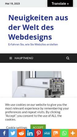 Vorschau der mobilen Webseite www.lumio-design.de, Lumio Interdisciplinary Design GmbH