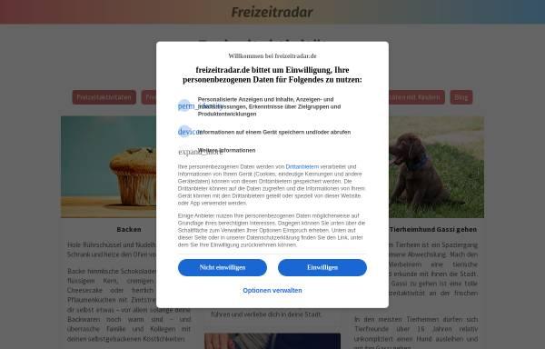 Vorschau von freizeitradar.de, Freizeitradar