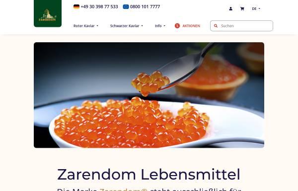 Vorschau von zarendom.de, Zarendom Kaviar
