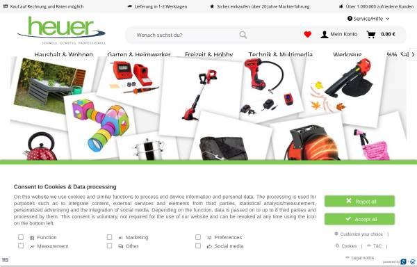 Vorschau von www.heuer-gmbh.com, Heuer GmbH Online Shop - Praktische Dinge für Haus und Hobby