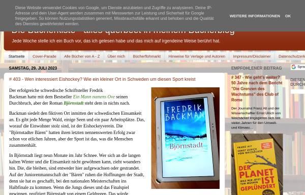 Vorschau von inasbuecherkiste.blogspot.de, Inas Bücherkiste