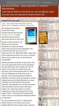 Vorschau der mobilen Webseite inasbuecherkiste.blogspot.de, Inas Bücherkiste