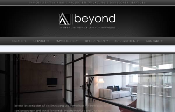 Vorschau von www.beyond-real-estate.de, beyond REAL ESTATE GmbH & Co. KG