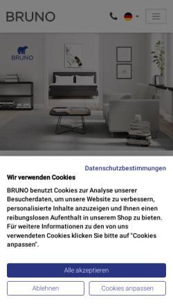 Vorschau der mobilen Webseite www.brunobett.de, Bruno Interior GmbH