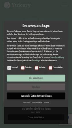 Vorschau der mobilen Webseite yuicery.de, Yuicery - Kaltgepresste Säfte