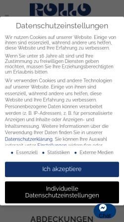 Vorschau der mobilen Webseite www.rollo-solar.de, Rollo Solar Melichar GmbH