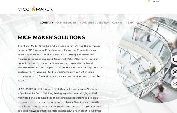 Vorschau von www.mice-maker.com, MICE MAKER GmbH
