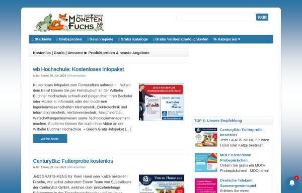Vorschau von www.monetenfuchs.de, Monetenfuchs Internetservice